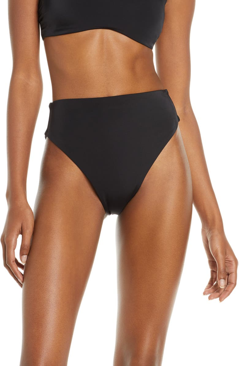 fcdea3329 Chelsea28 Easy Retro High Waist Bikini Bottoms | Nordstrom