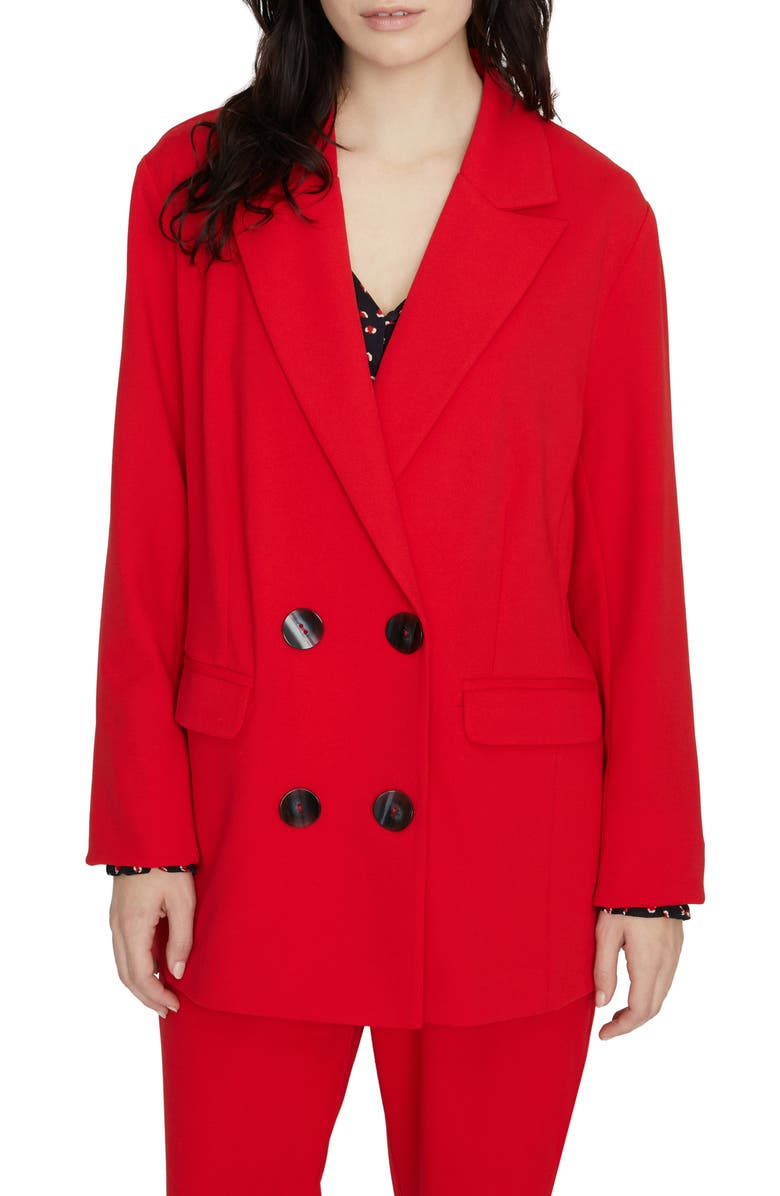 SANCTUARY The Boss Lady Blazer, Main, color, PARTY RED