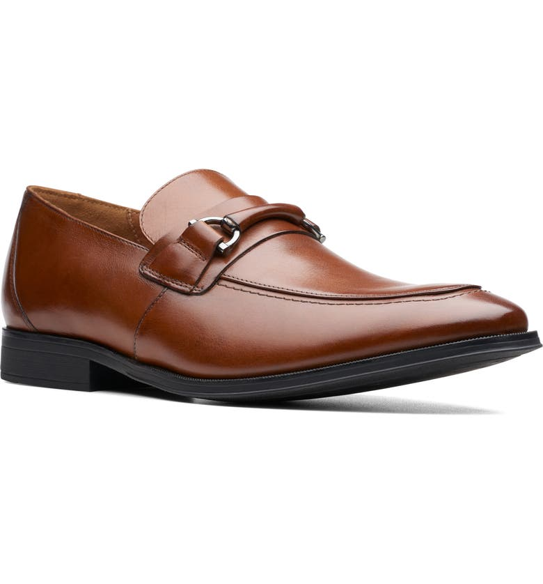 CLARKS<SUP>®</SUP> Gilman Bit Loafer, Main, color, DARK TAN LEATHER