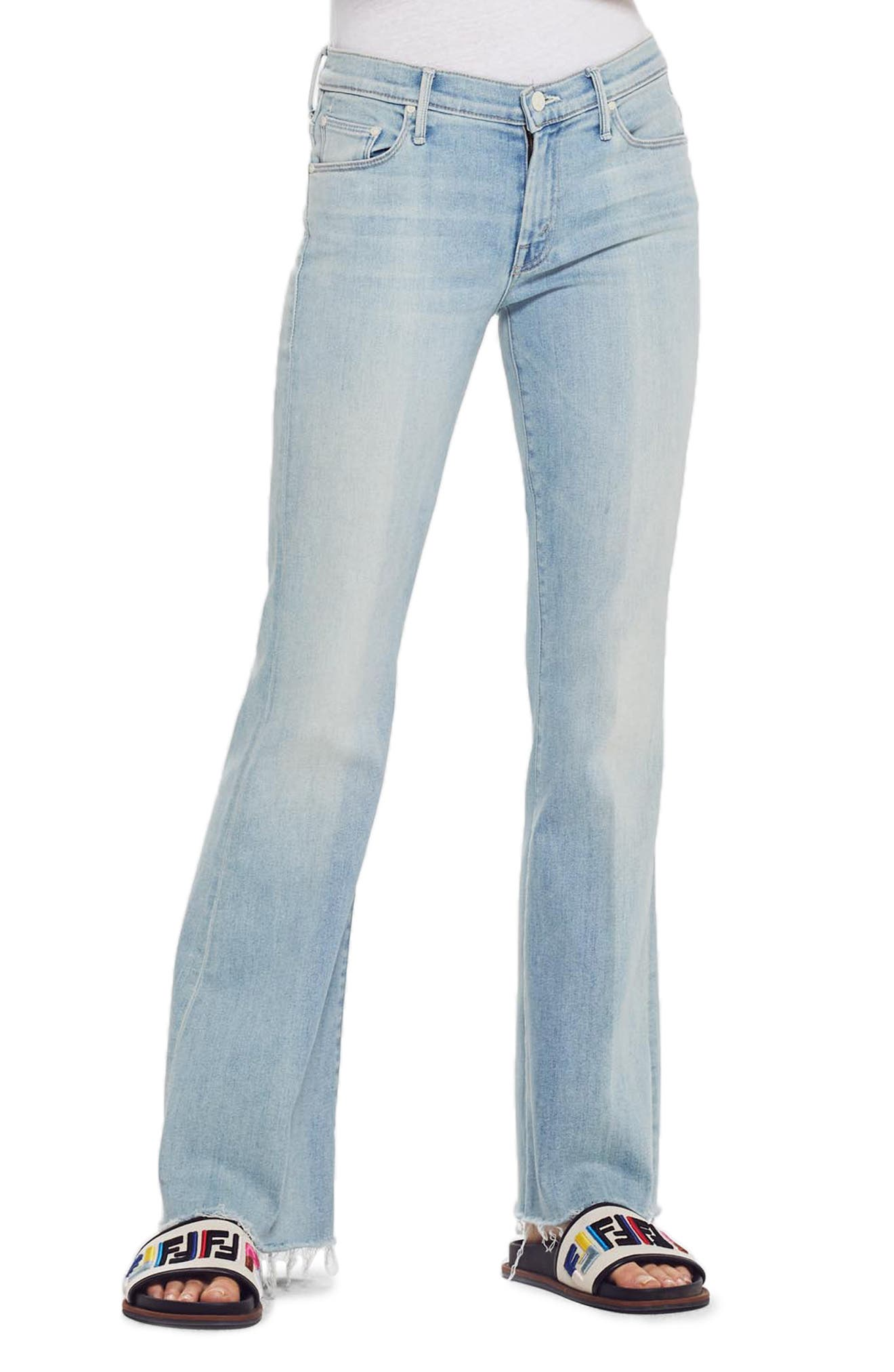 Women's Mother Frayed Flare Jeans