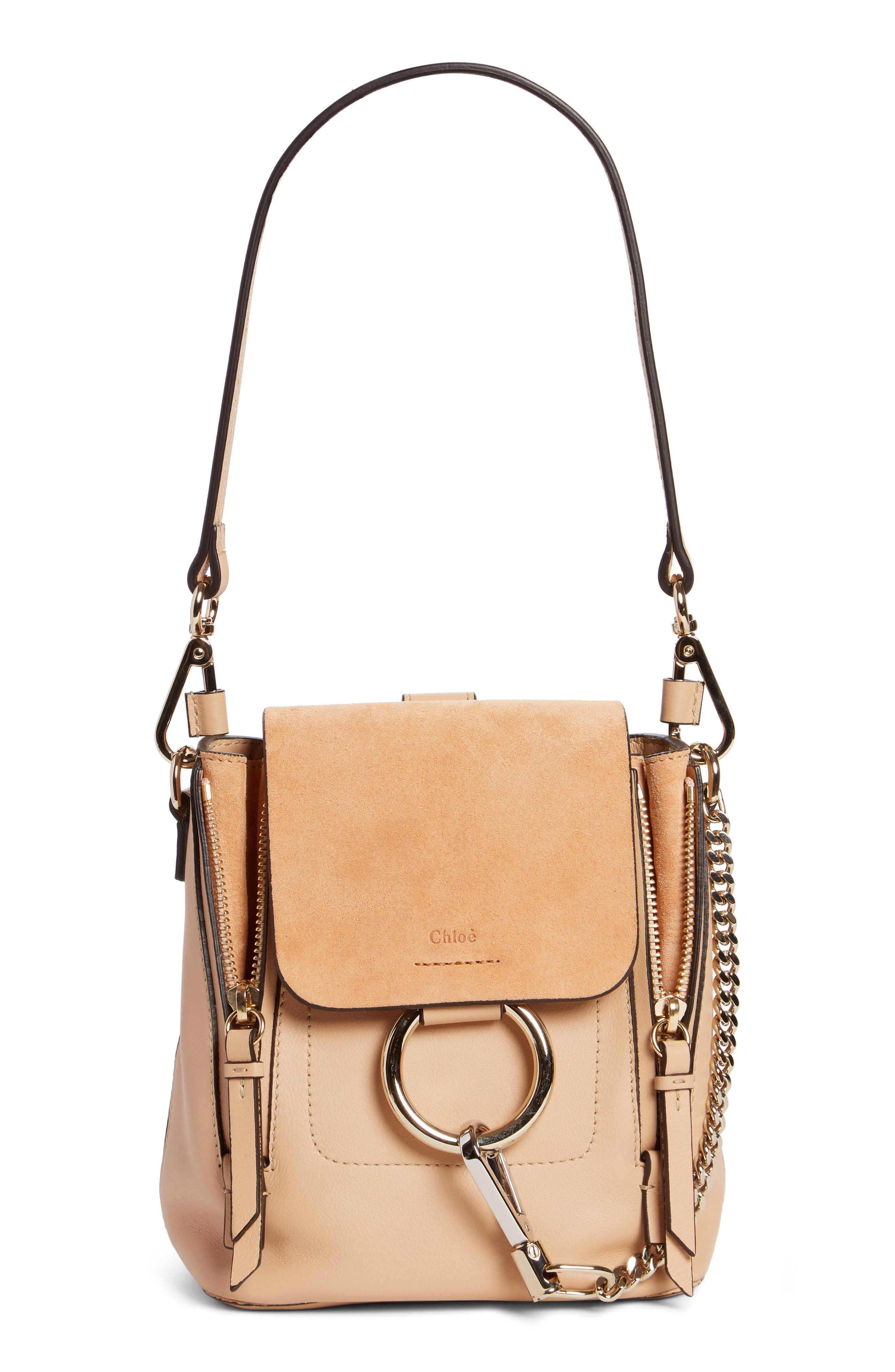,                             Mini Faye Leather & Suede Backpack,                             Alternate thumbnail 29, color,                             650