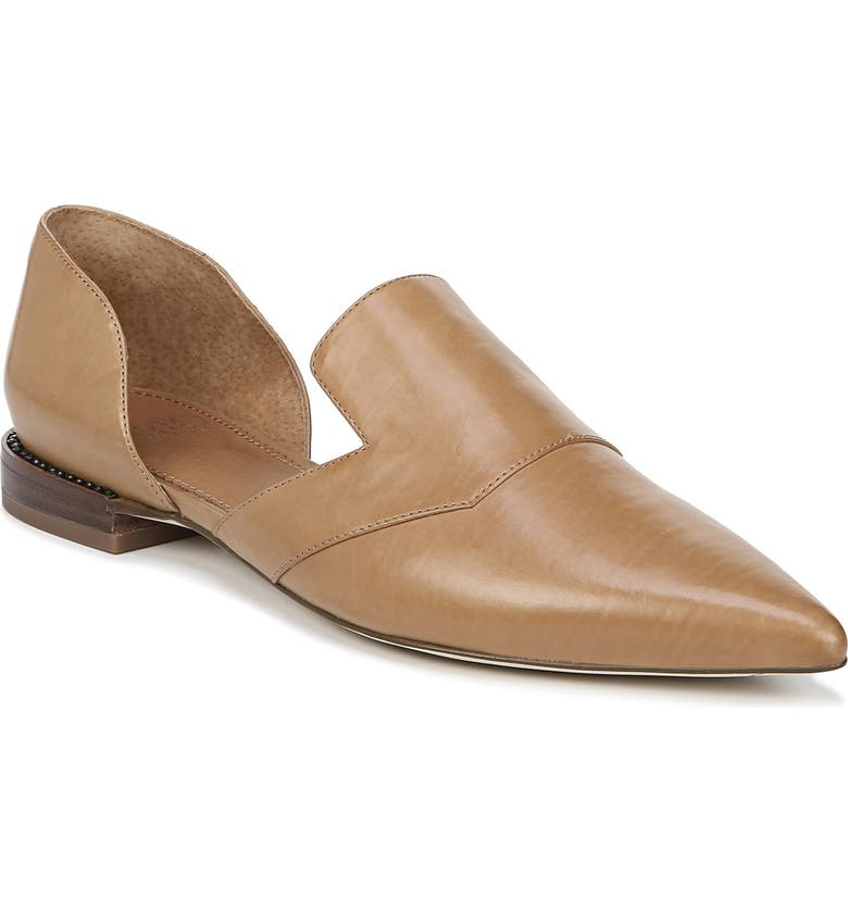 SARTO BY FRANCO SARTO Toby Pointed Toe Flat, Main, color, SADDLE LEATHER/ BROWN