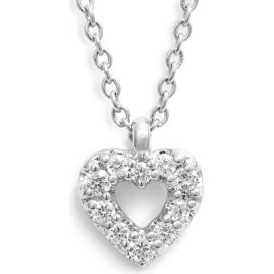 Bony Levy Diamond Petite Open Heart Pendant Necklace (Nordstrom Exclusive)