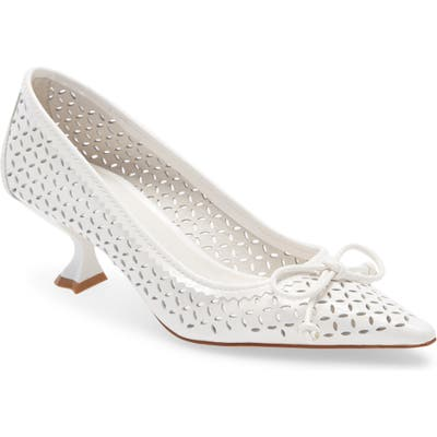 Jeffrey Campbell Fayre Pointed Toe Pump- White