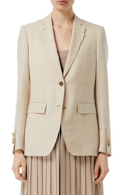 Image of Burberry Skirted Jacket