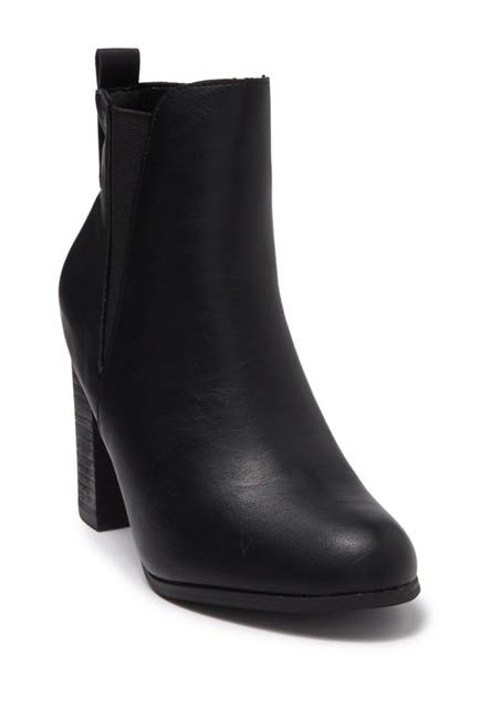 Image of Chase & Chloe Coin Chunky Block Heel Boot