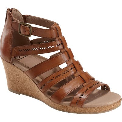 Earth Sunny Strappy Sandal, Brown