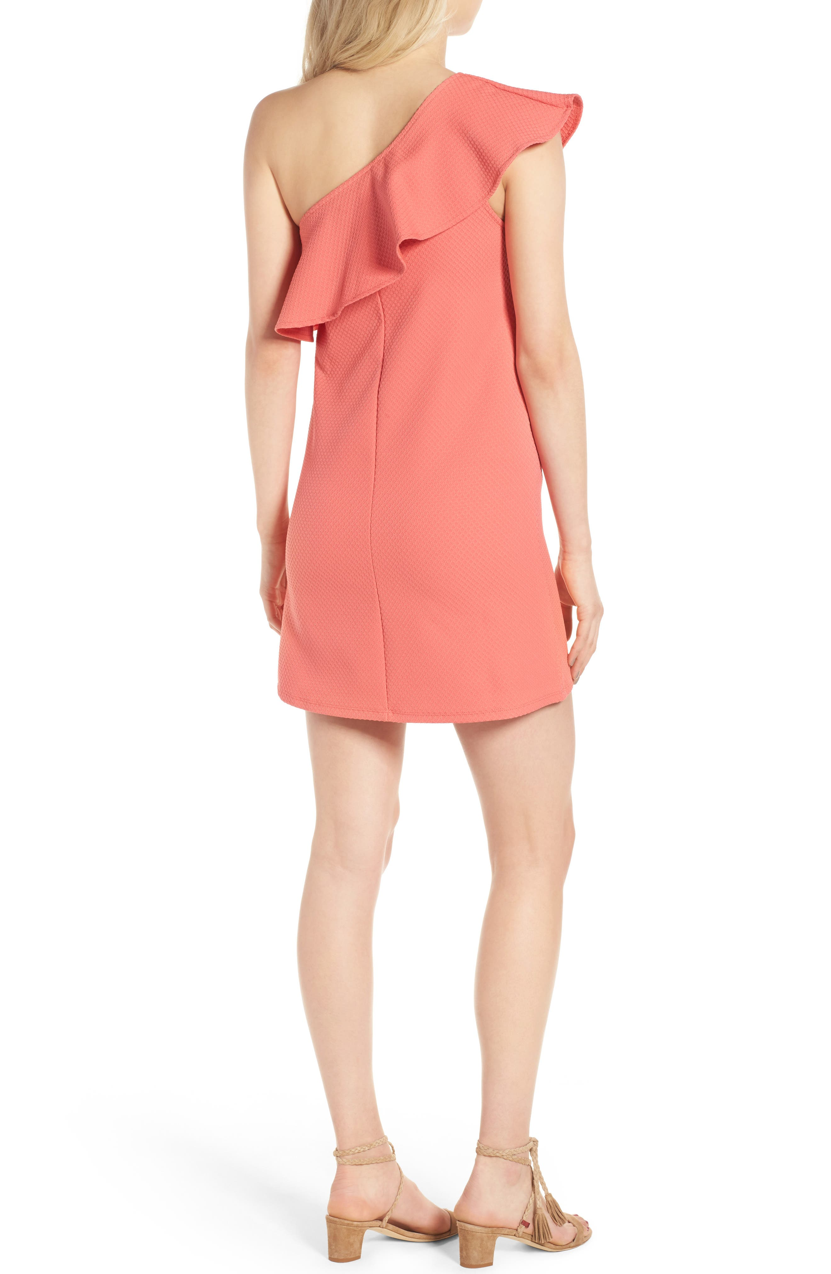 ,                             Ruffle One-Shoulder Dress,                             Alternate thumbnail 13, color,                             950