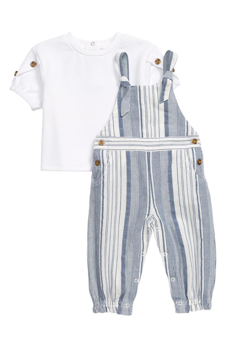 HABITUAL Symone Shirt & Yard Stripe Jumpsuit Set, Main, color, 475