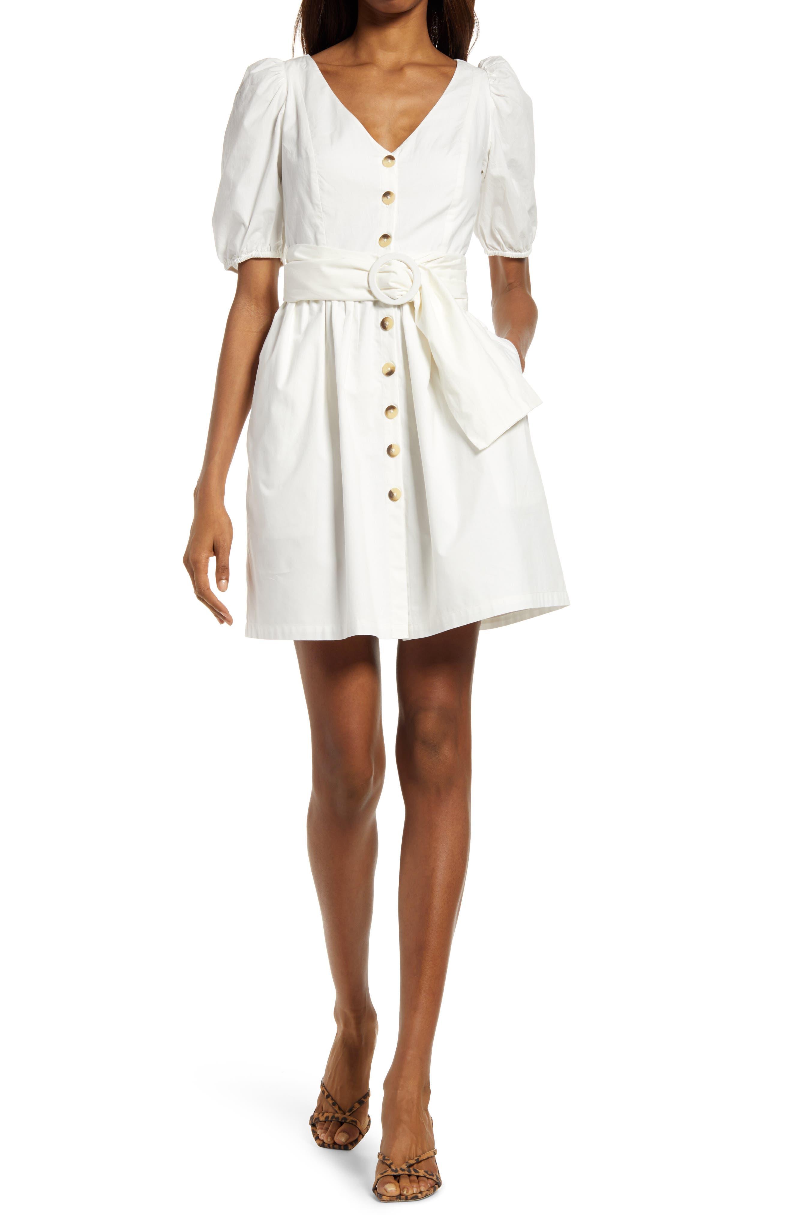 Besima Belted Cotton Poplin Dress
