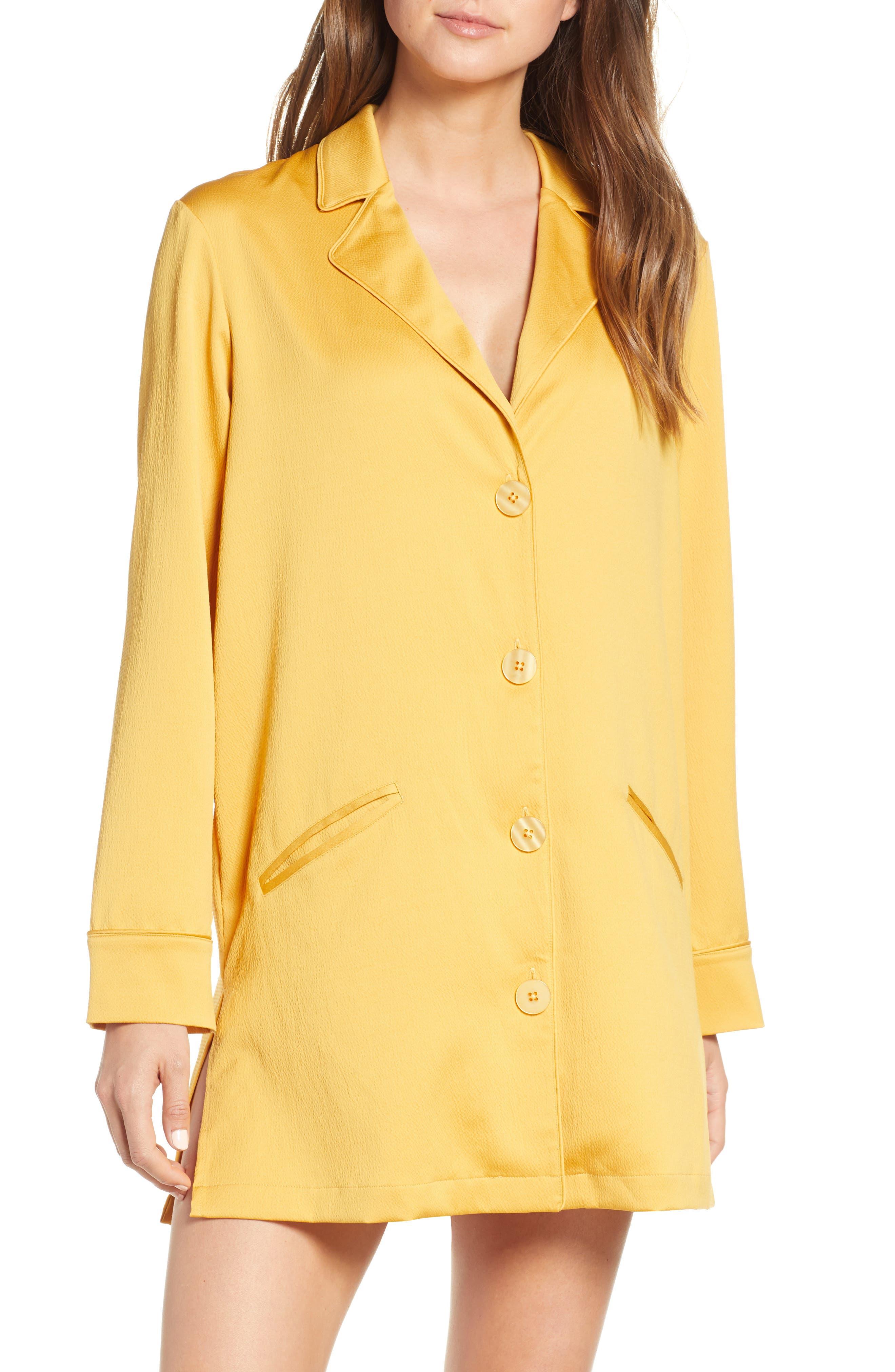 Something Navy Blazer Nightshirt, Yellow (Nordstrom Exclusive)