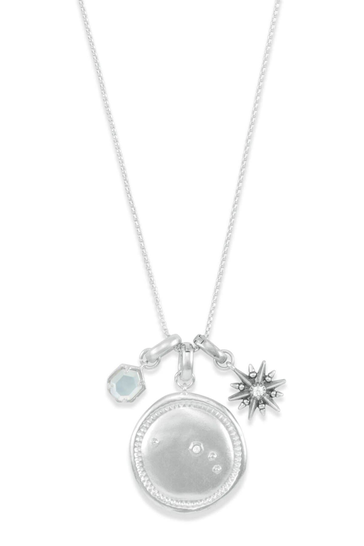 Image of Kendra Scott Rhodium Plated Aries Charm Necklace