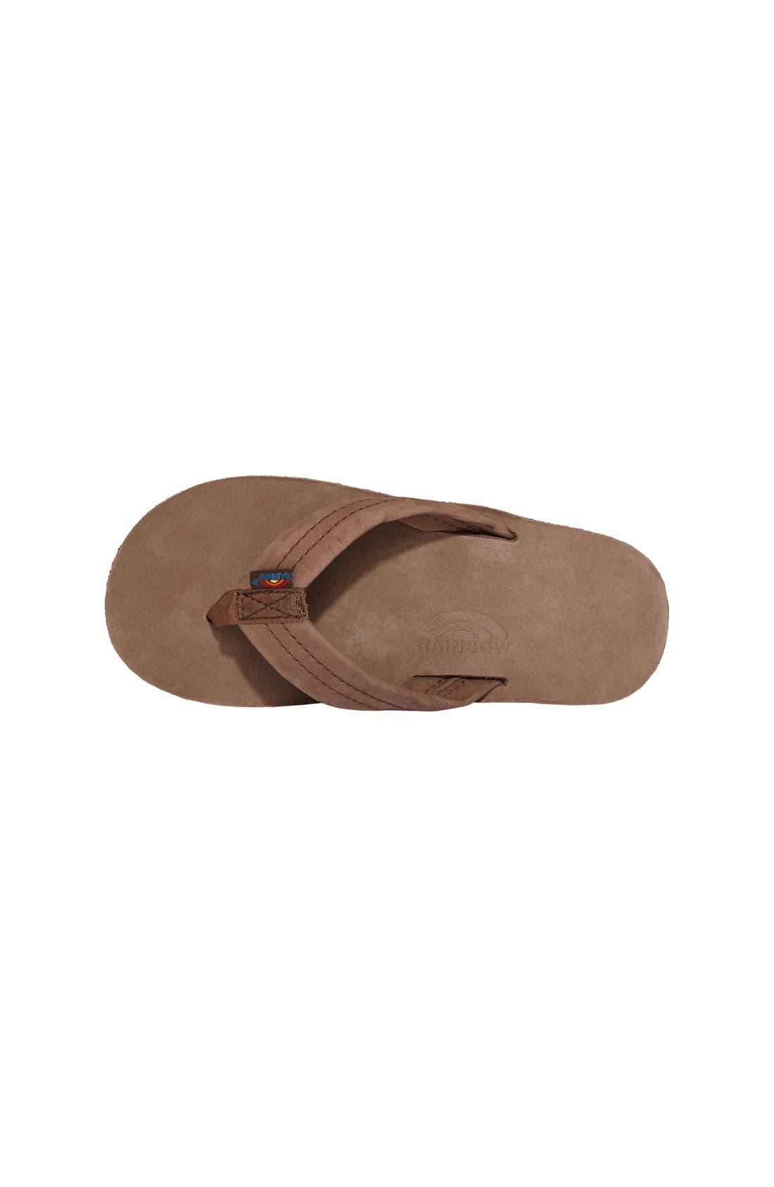 ,                             Rainbow Leather Sandal,                             Alternate thumbnail 9, color,                             EXPRESSO