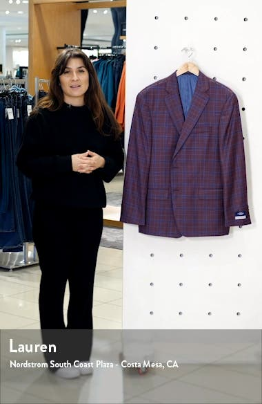 Classic Fit Plaid Wool Sport Coat, sales video thumbnail