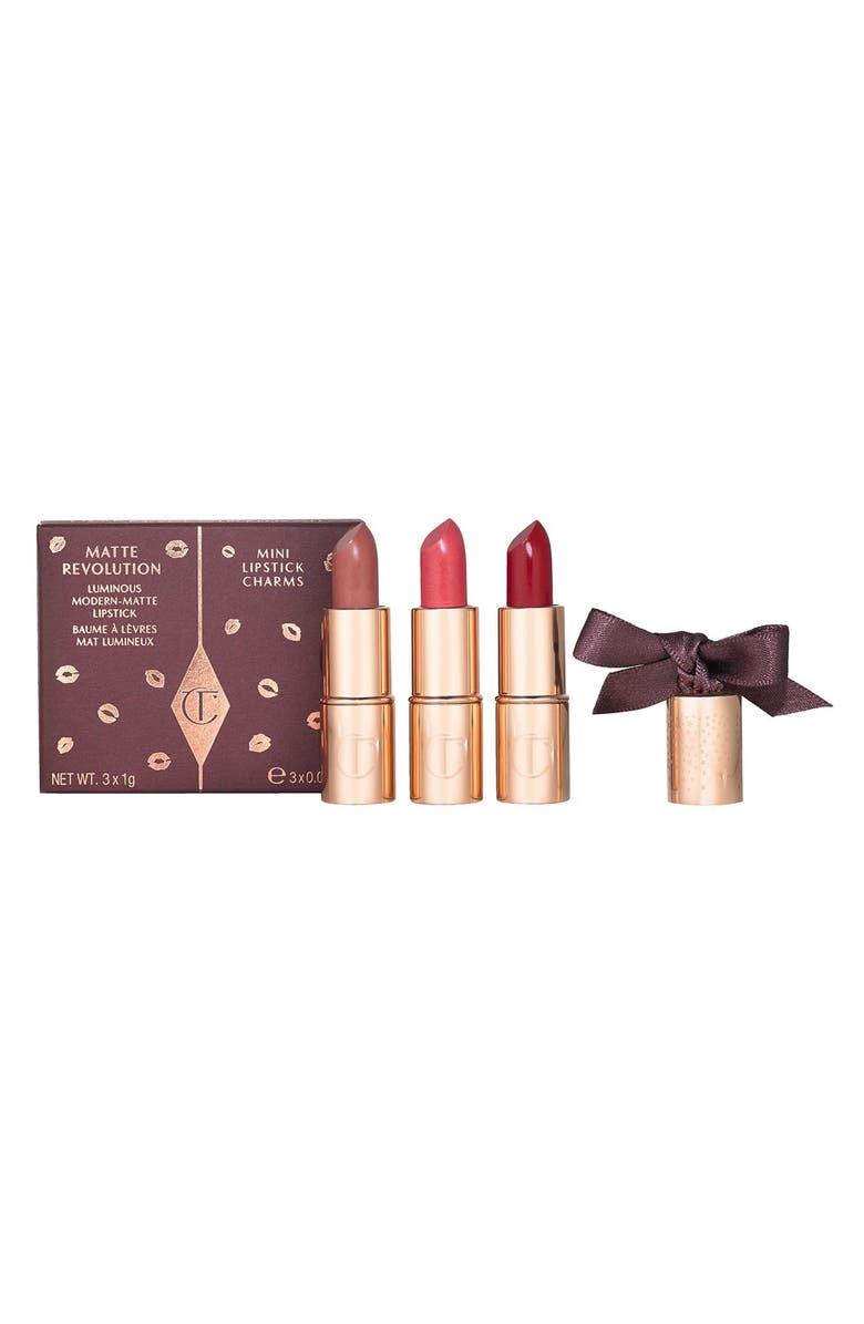 CHARLOTTE TILBURY Matte Revolution Mini Lipstick Trio, Main, color, 000