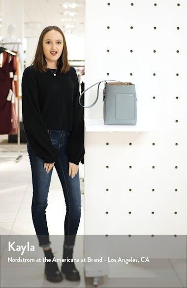Secchiello Small Leather Hobo Bag, sales video thumbnail