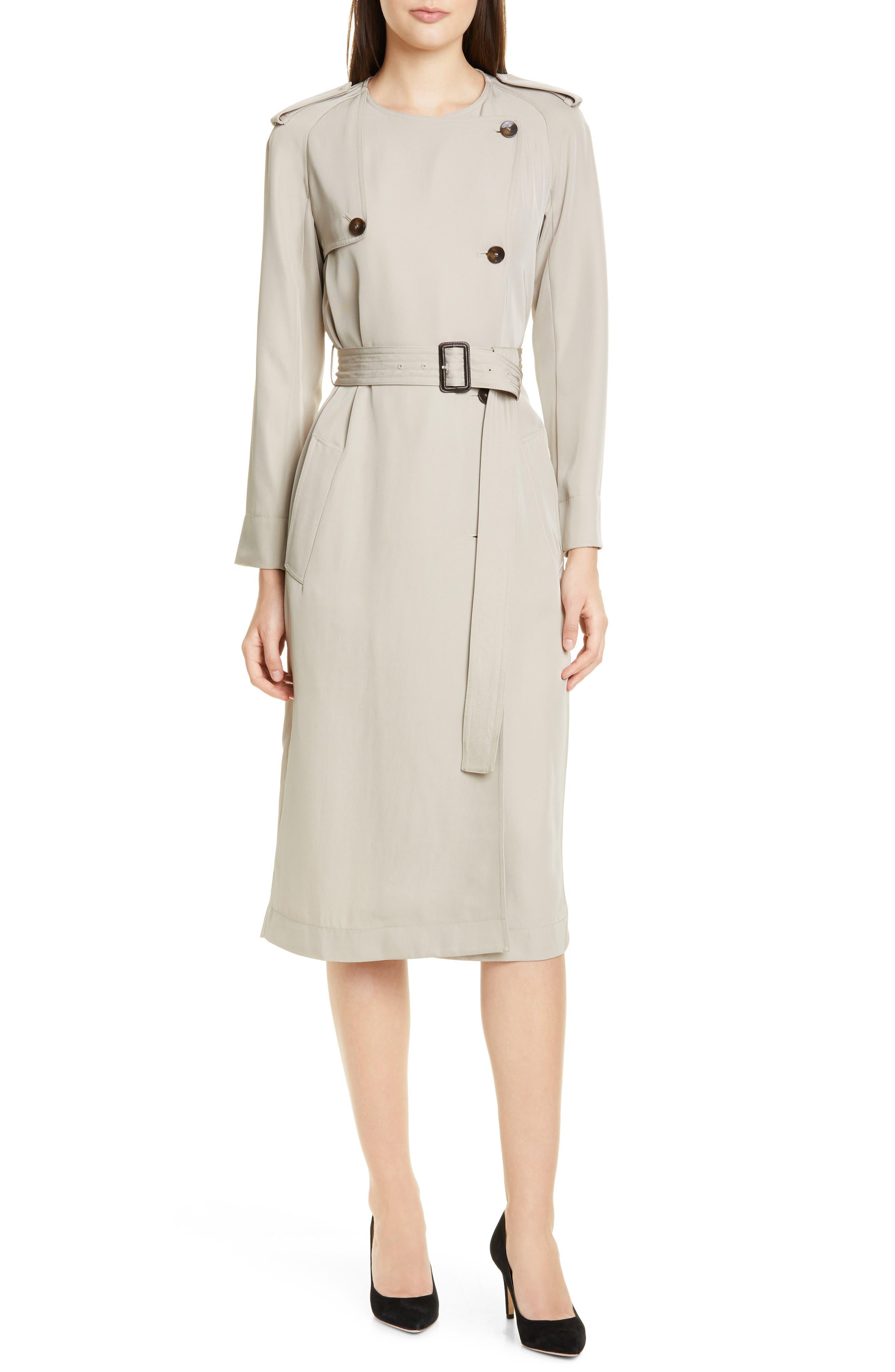 Boss Dayada Long Sleeve Dress, Beige