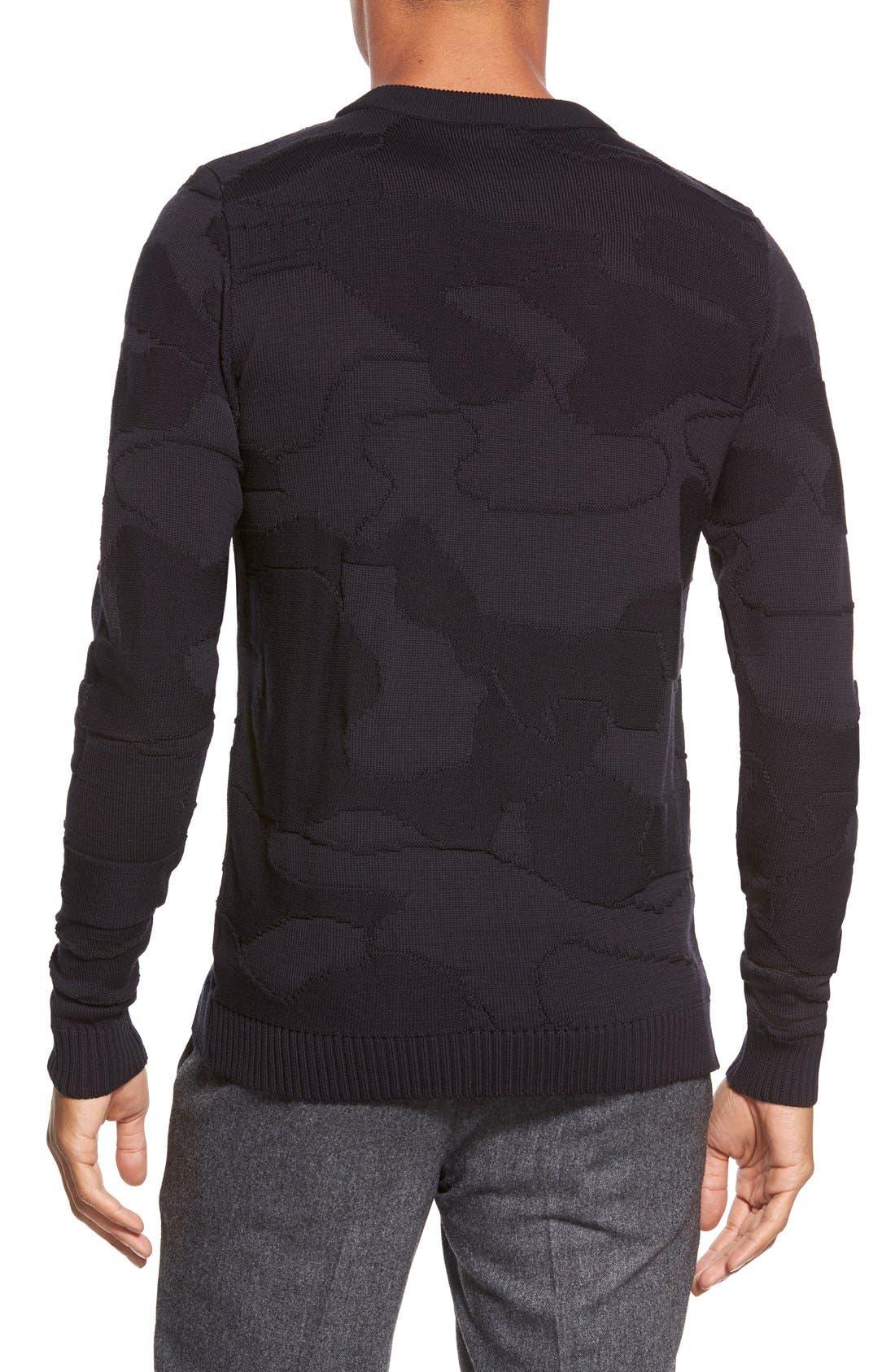 ,                             'Codon' Slim Fit Wool Knit Crewneck Sweater,                             Alternate thumbnail 6, color,                             002