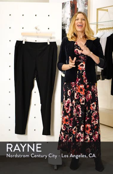 'Wonder Stretch' High Rise Straight Leg Pants, sales video thumbnail