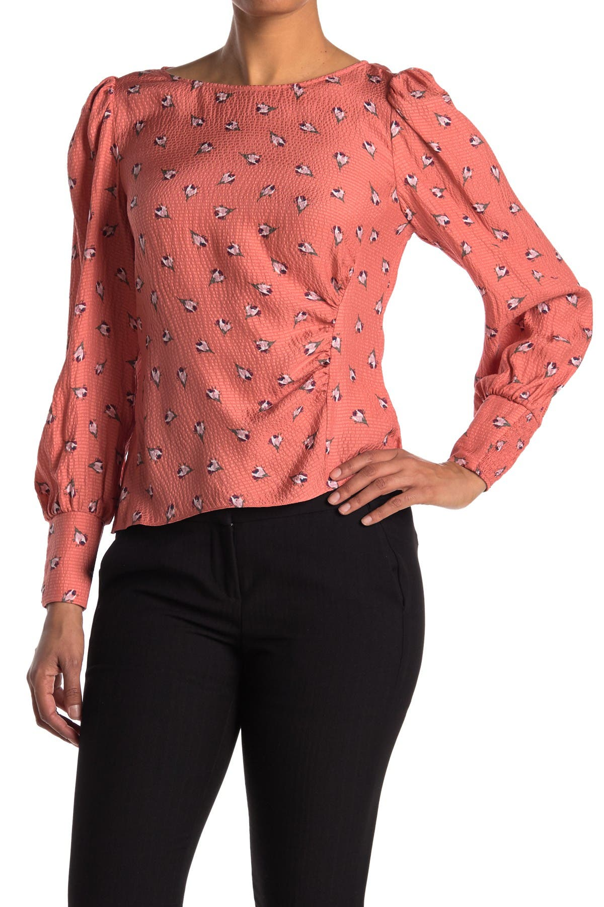 Image of Rebecca Taylor Long Sleeve Bridgette Top