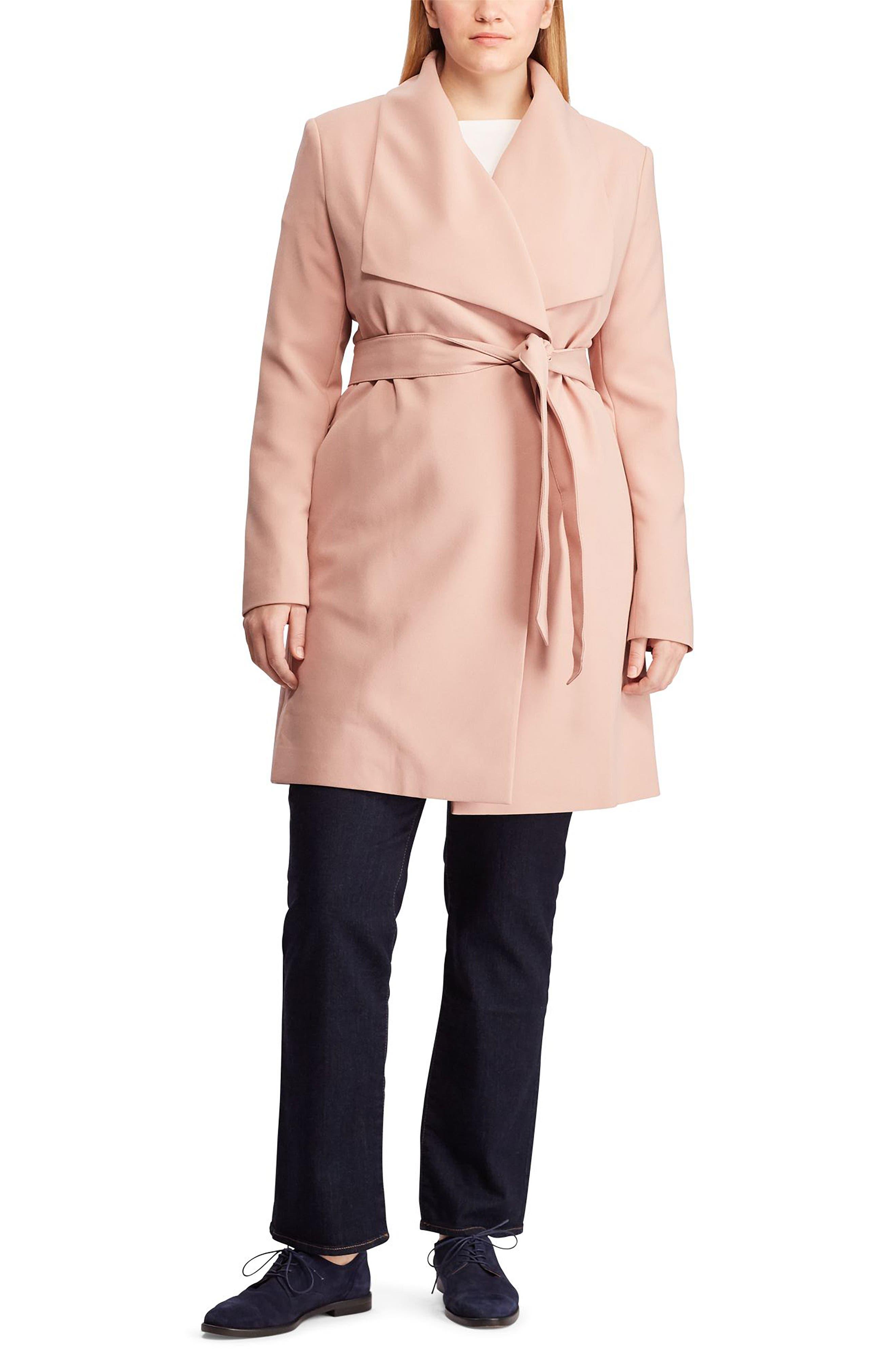 ,                             Belted Drape Front Coat,                             Alternate thumbnail 6, color,                             654