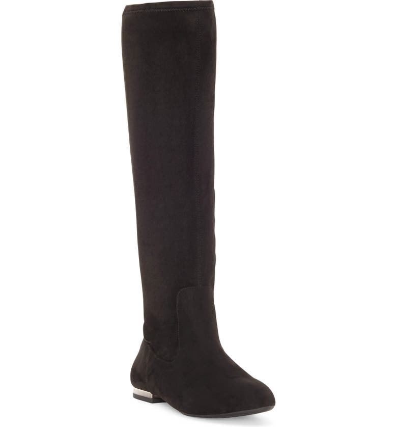 JESSICA SIMPSON Gilia Knee High Boot, Main, color, BLACK SUEDE