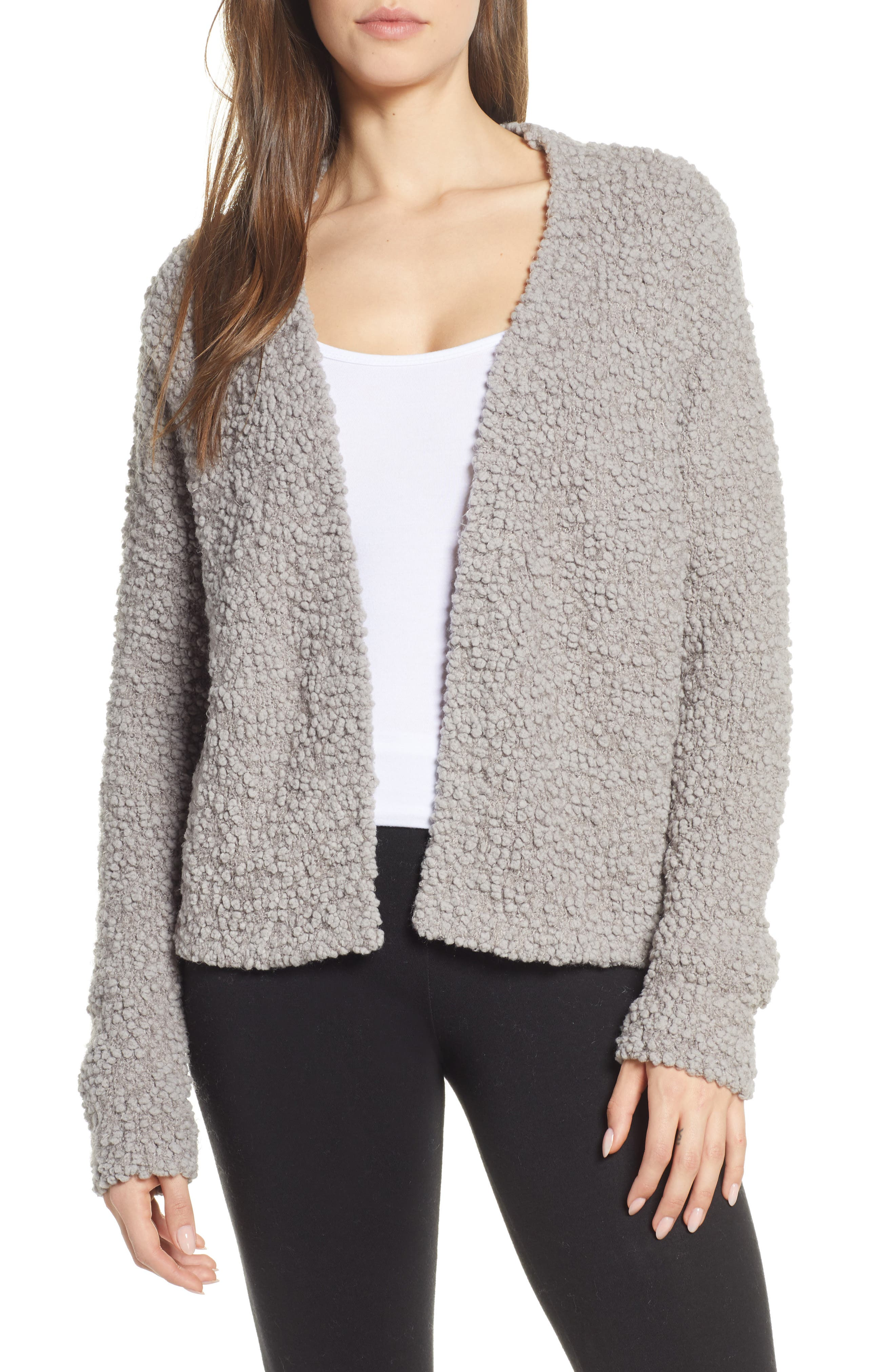 Barefoot Dreams(R) Open Front Boucle Cardigan