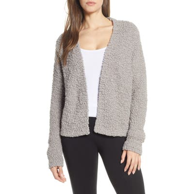 Barefoot Dreams Open Front Boucle Cardigan, Beige