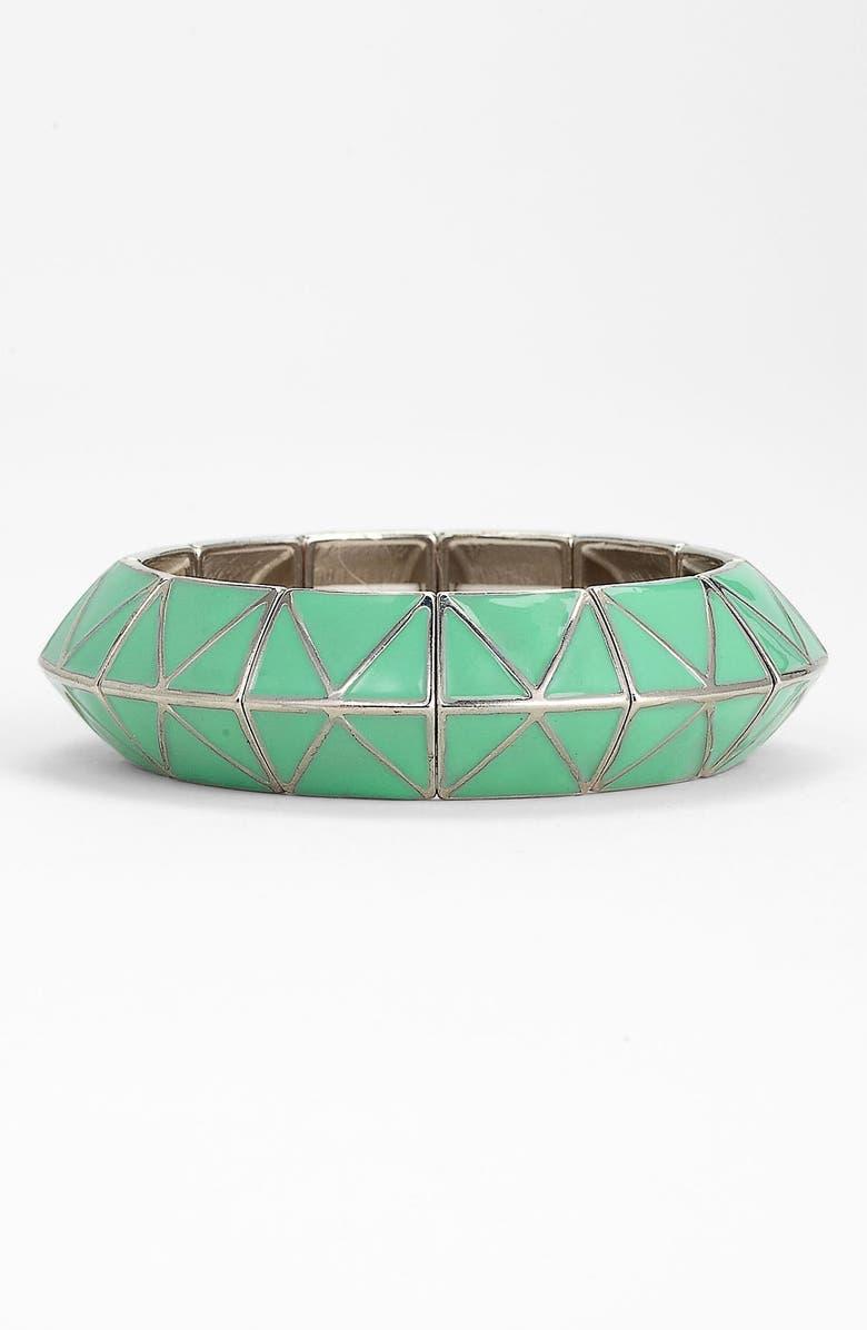 CAROLE Enameled Pyramid Stretch Bracelet, Main, color, 300