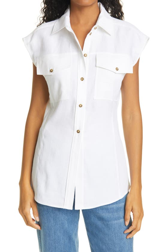 Frame Linens ARIE BUTTON-UP TOP