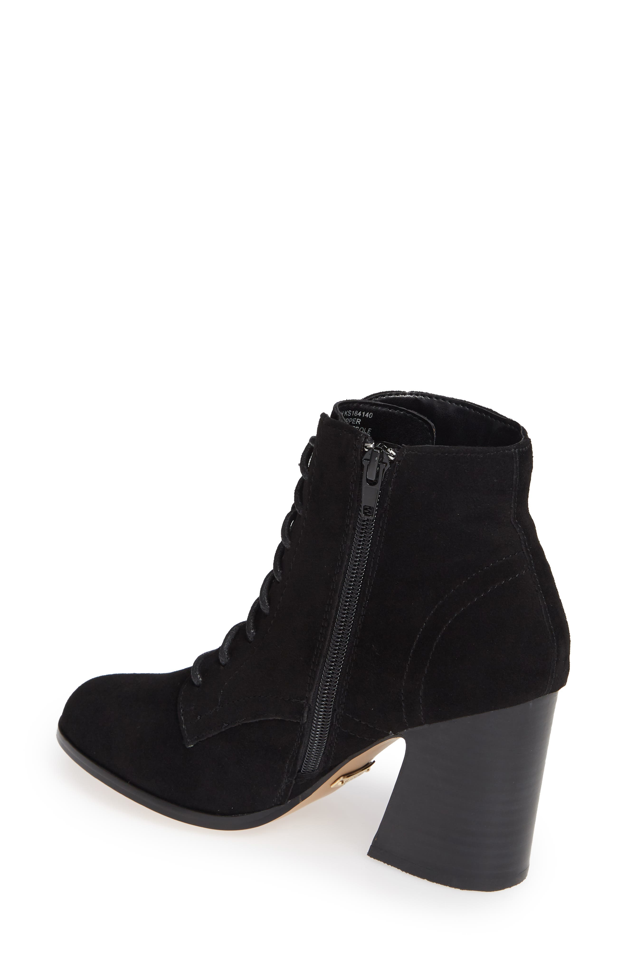 ,                             Smith Lace-Up Bootie,                             Alternate thumbnail 2, color,                             BLACK SUEDE