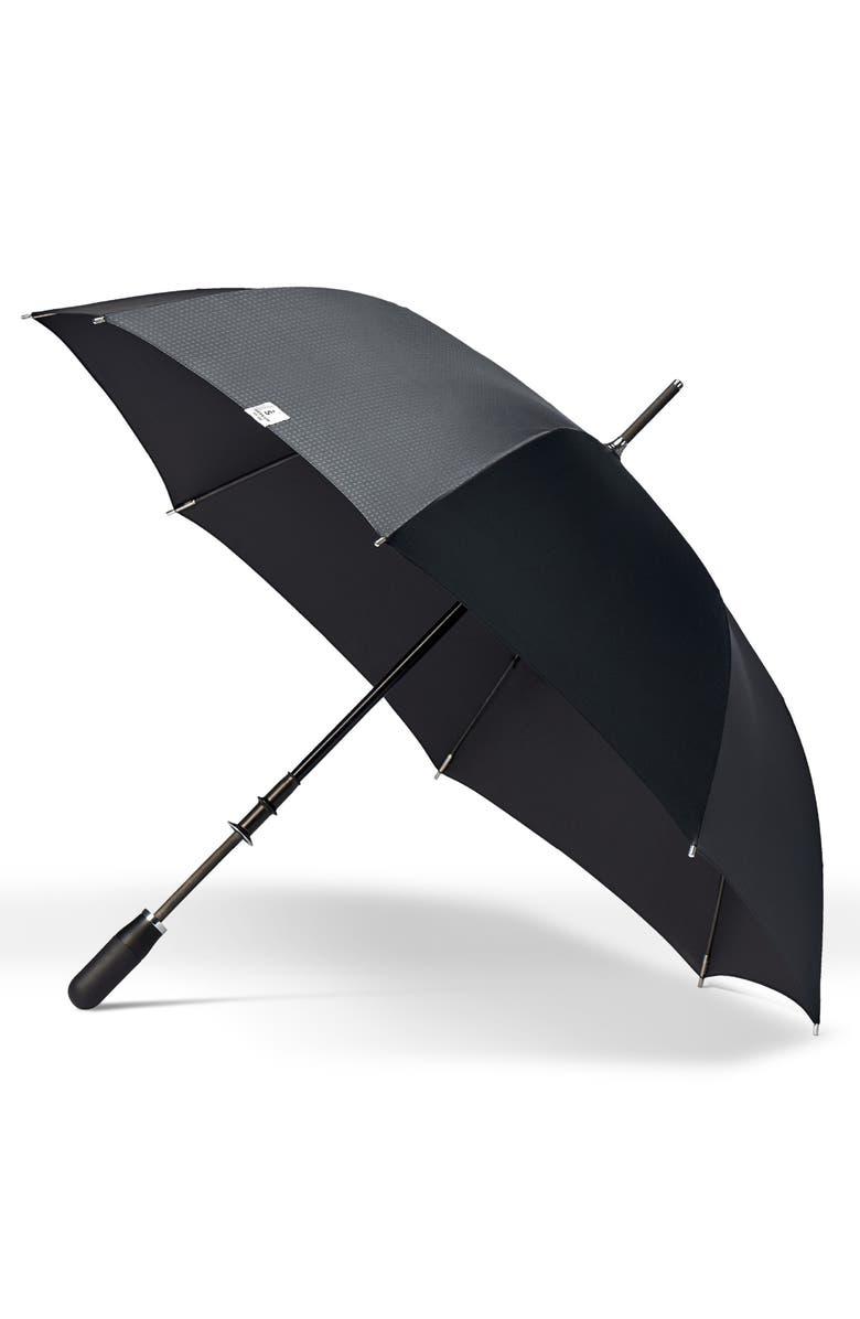 SHEDRAIN Stratus Auto Open Stick Umbrella, Main, color, BLACK