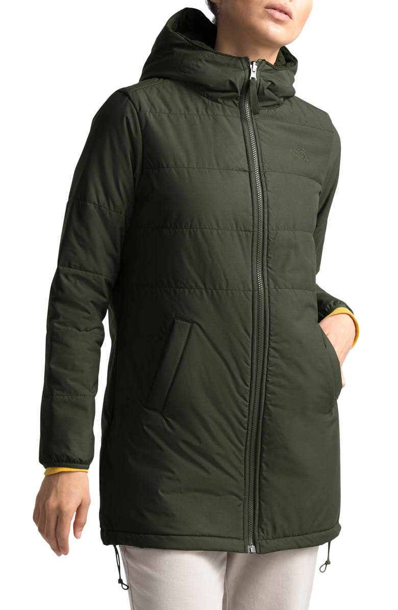THE NORTH FACE Merriewood Reversible Hooded Jacket, Main, color, NEW TAUPE