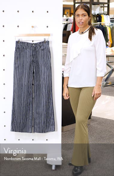 Etta Crop Wide Leg Linen & Cotton Jeans, sales video thumbnail