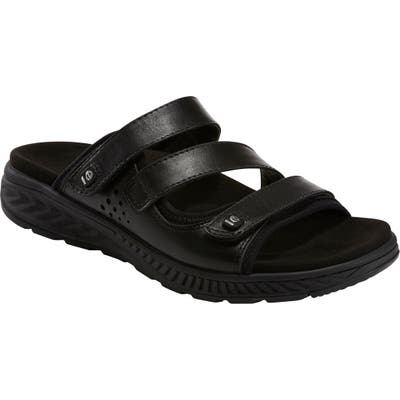 Earth Loures Slide Sandal, Black