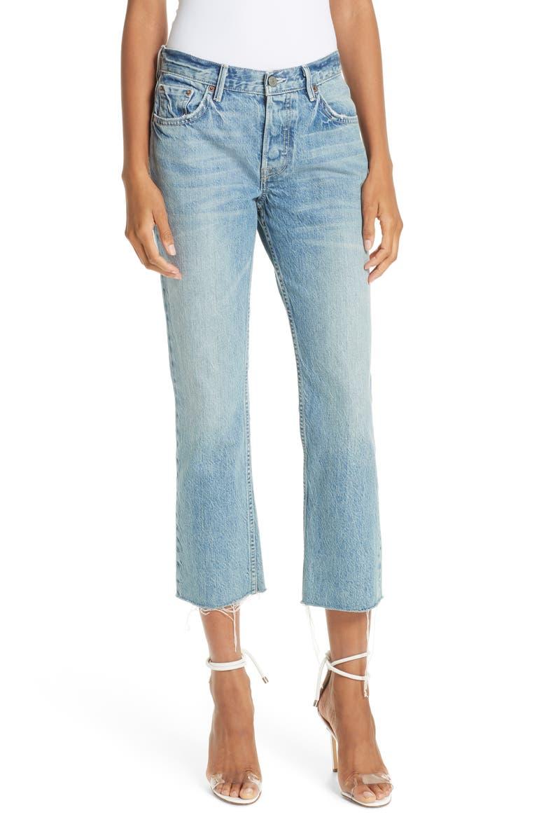GRLFRND Tatum Crop Flare Jeans, Main, color, 400