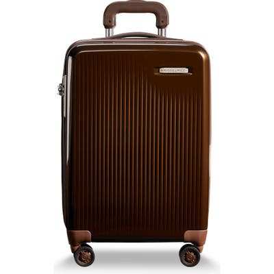 Briggs & Riley Sympatico 21-Inch Expandable Wheeled Carry-On - Brown