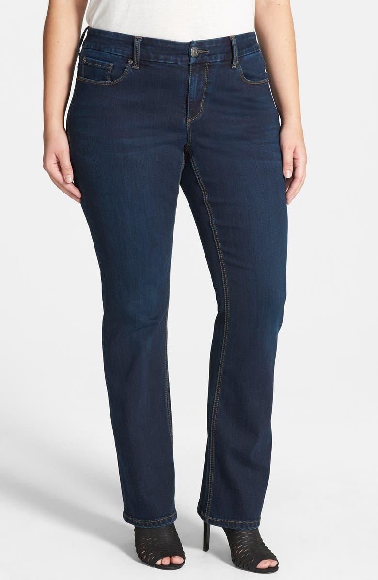 109cc184d3 Curvy Fit Stretch Slim Bootcut Jeans