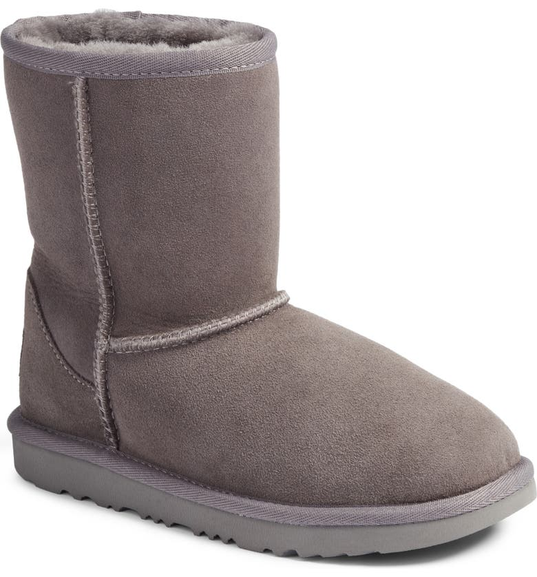 UGG<SUP>®</SUP> Classic Short II Water Resistant Genuine Shearling Boot, Main, color, GREY