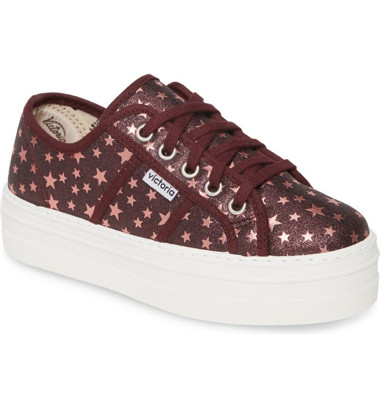 VICTORIA SHOES Barcelona Sparkle Platform Sneaker, Main, color, 501