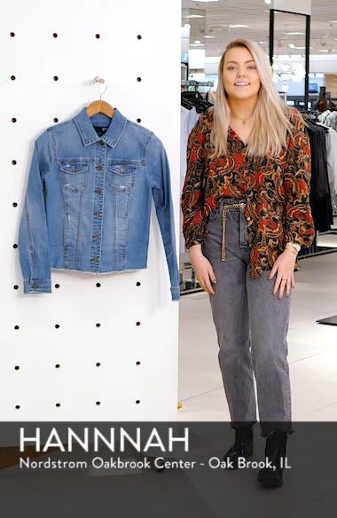 Arielle Frayed Denim Jacket, sales video thumbnail