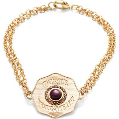 Marlo Laz Porte Bonheur Coin Bracelet