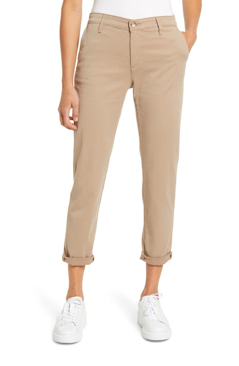 AG Caden Crop Twill Trousers, Main, color, PARCHED TRAIL