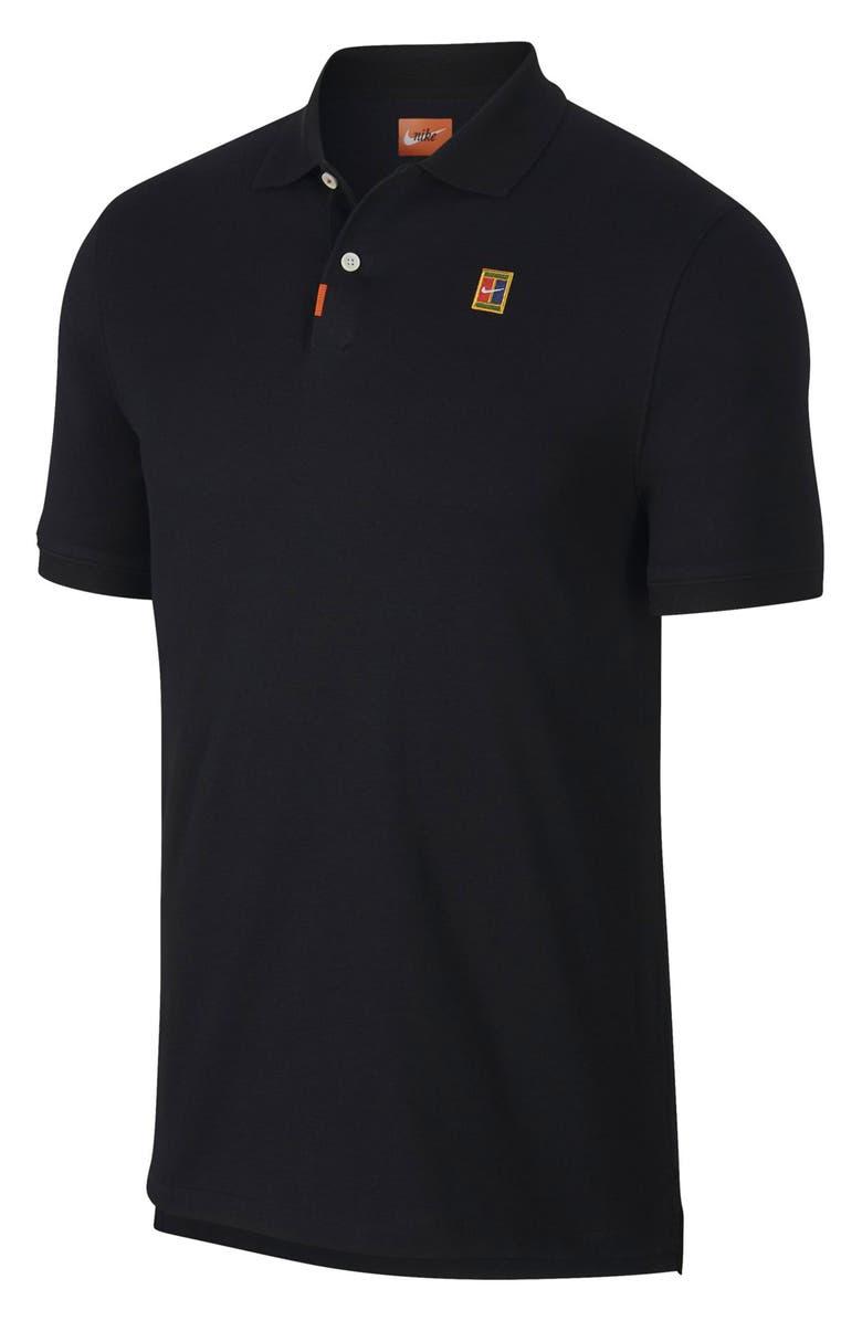 NIKE Court Dri-FIT Heritage Piqué Tennis Polo, Main, color, BLACK