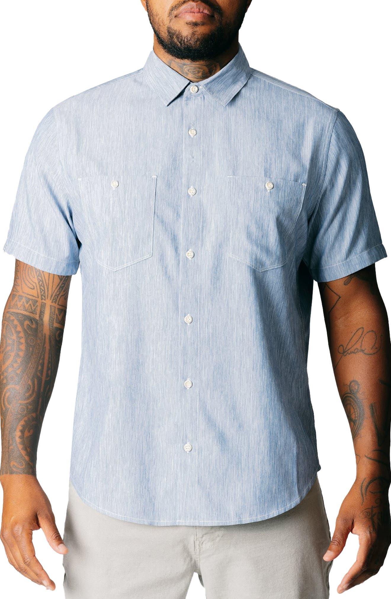 Blue Fin Short Sleeve Button-Up Shirt