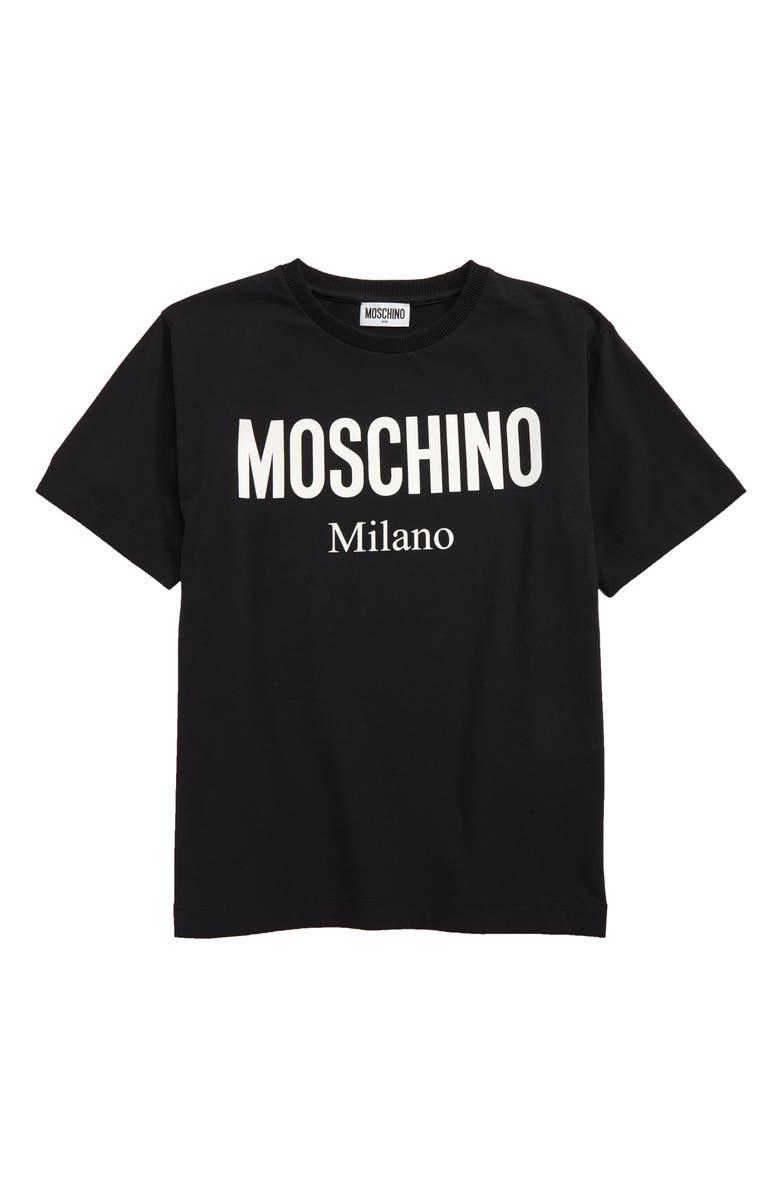 MOSCHINO Logo Graphic T-Shirt, Main, color, 001