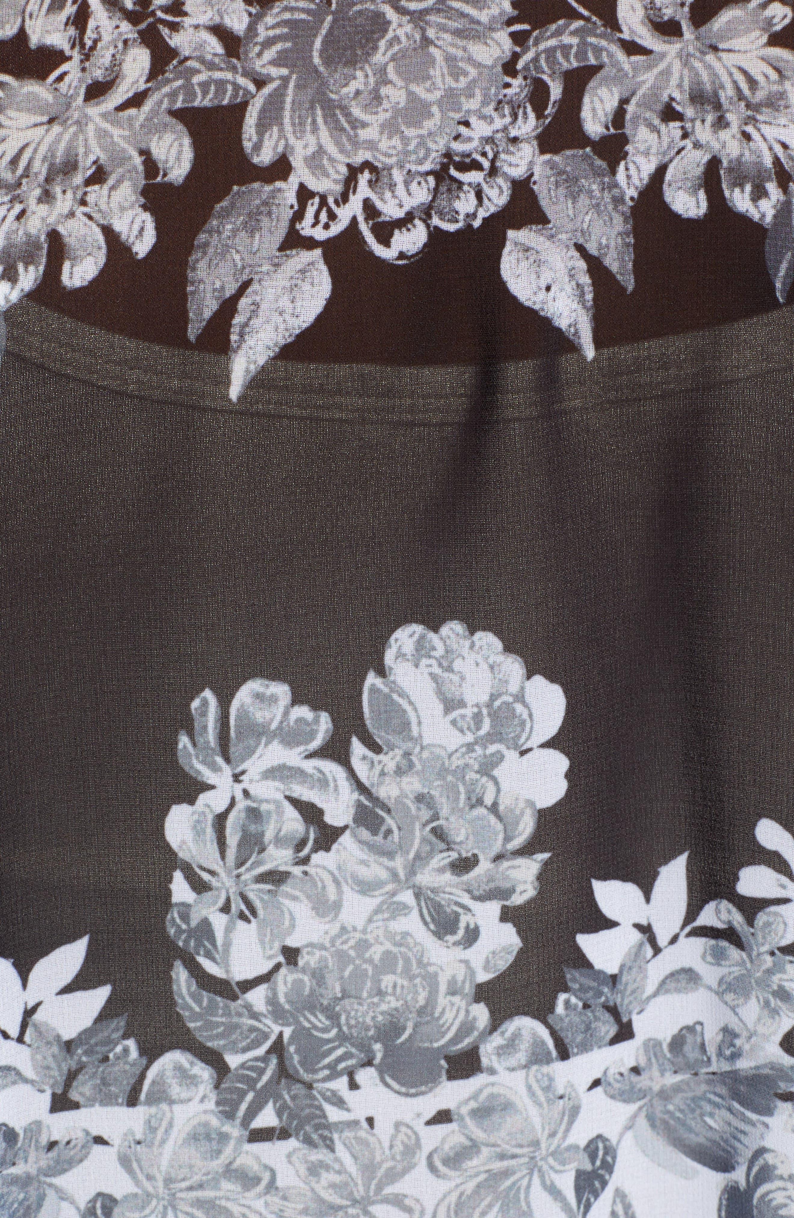 ,                             Floral Duster,                             Alternate thumbnail 5, color,                             BLACK BLOOM KAFTAN