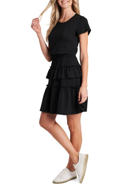 Cece TIERED RUFFLE KNIT MINIDRESS