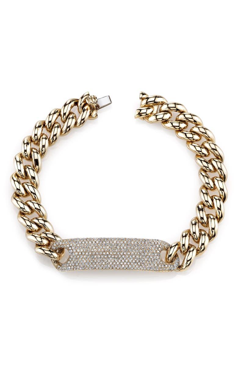 SHAY Diamond Pavé ID Bracelet, Main, color, DIAMOND