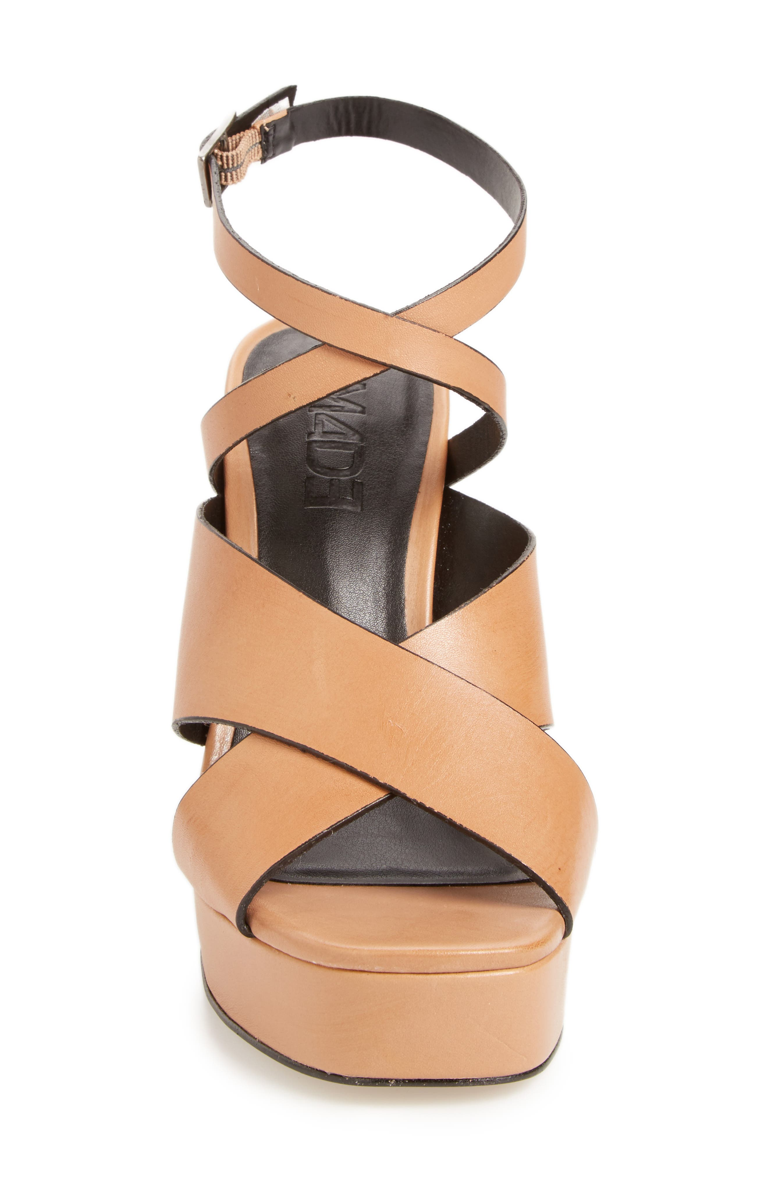 ,                             Priscilla Wraparound Platform Sandal,                             Alternate thumbnail 3, color,                             NUDE